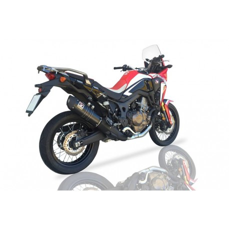 IXIL Silencer HEXOVAL XTREM black, stainless steel, CRF 1000 L Africa Twin, 16-, Euro 4