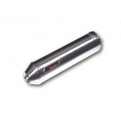 TAKKONI brushed inox silencer , E-mark, Honda CRF 1000 L Africa Twin, 16- (Euro4)